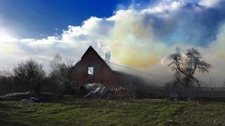 Pożar obory w miejscowości Runowskie