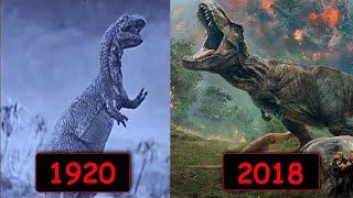 Эволюция динозавров в кино за столетие! 1920 - 2018