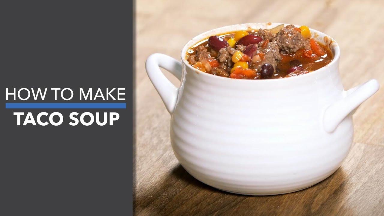 How to Make Taco Soup - YouTube