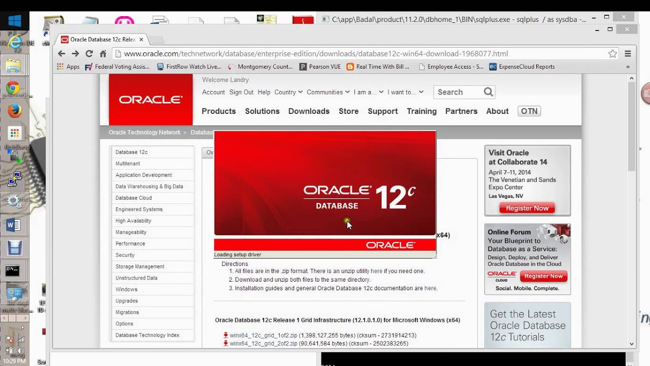 How to install oracle 12c software on windows 8 64 bits