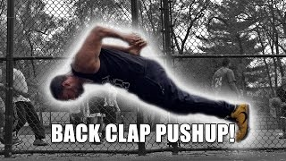 How To Do A Back Clap Push Up