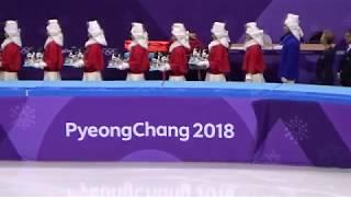 2018 平昌 PyeongChang Figure Skating Team Flower Ceremony