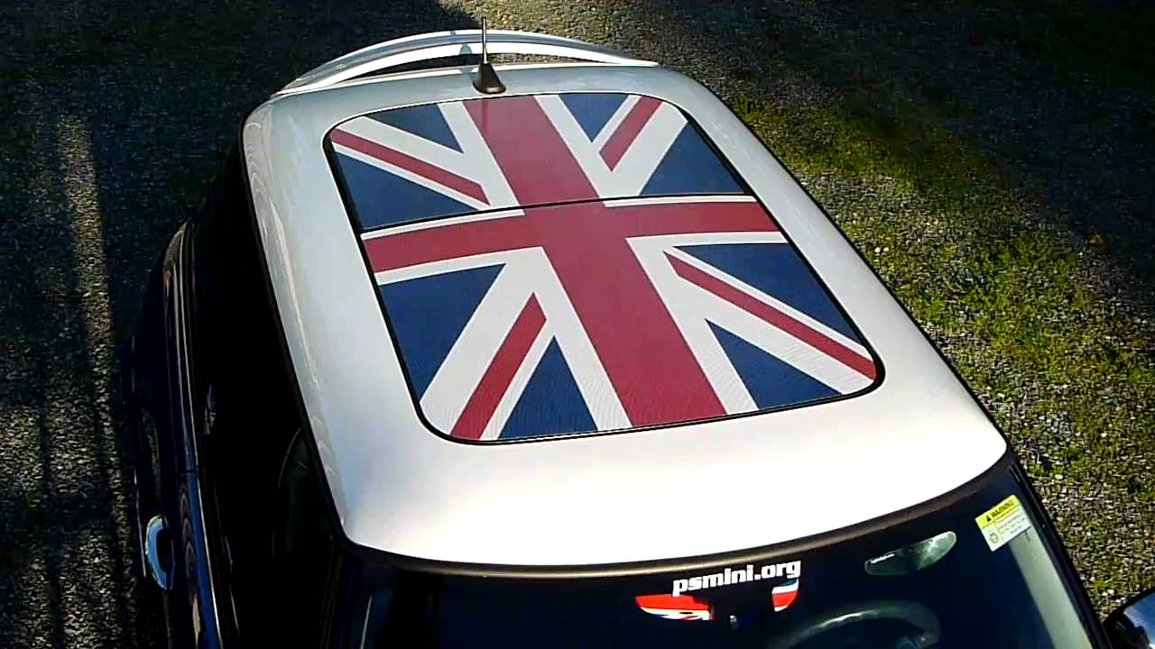 Completed Installation Of A Sunroof Graphic On My Mini