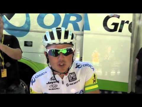 Interview with Simon Gerrans at Stage 16 of the 2012 Tour De France