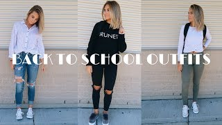 BACK TO SCHOOL OUTFITS // Monday through Friday
