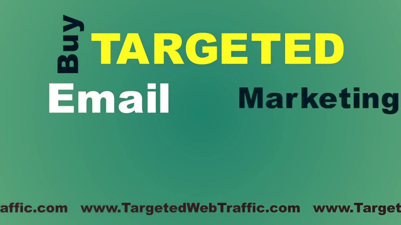 how to buy email addresses for marketing