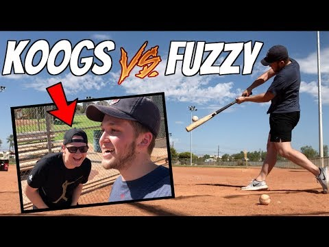 FUZZY VS KOOGS46!? IRL BASEBALL CHALLENGE IN 110 DEGREE HEAT!