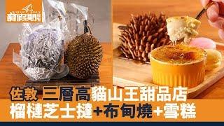 【出街搵食】佐敦貓山王榴槤甜品專門店 榴槤蛋糕+布甸燒+流心芝士撻|新假期
