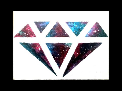DIY Galaxy Diamond Wall Art
