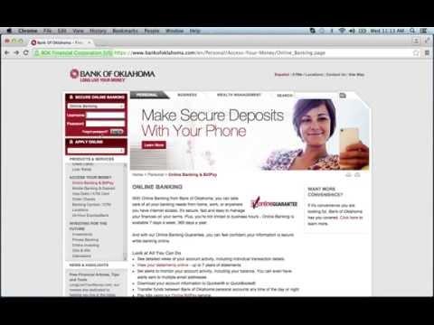 Bank of Oklahoma Online Banking Login Instructions