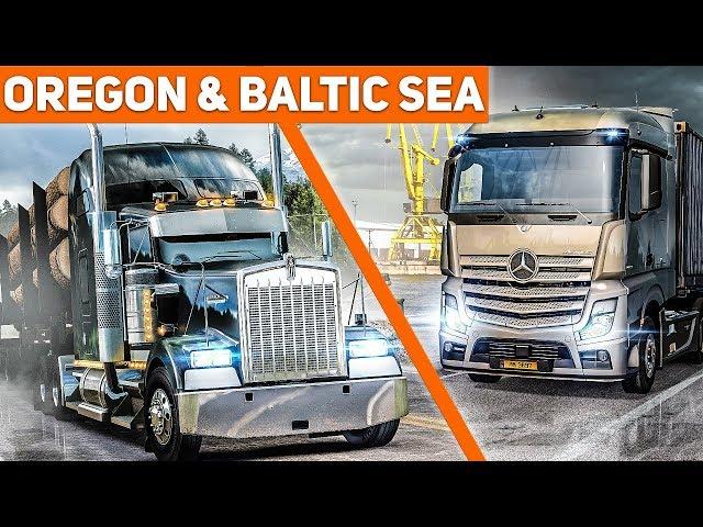 ETS 2: Beyond the Baltic Sea + ATS: Oregon - Infos und Gameplay zu den Truck Simulator DLCs!