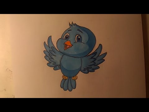 Dessiner un oiseau facilement - Cartoon#1