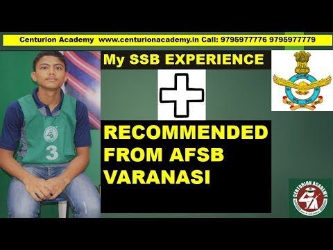 SSB INTERVIEW : How I Cleared My SSB Interview | Recommended from AFSB Varanasi