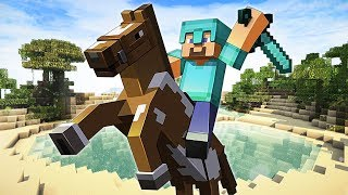 TAMING A HORSE!! MINECRAFT w/ MY GIRLFRIEND!! (Minecraft #4)