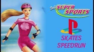 Barbie Super Sports PS1 Skates Speedrun
