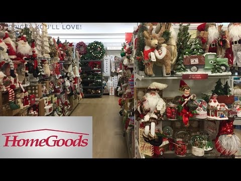 HOME GOODS CHRISTMAS DECOR DECORATIONS HOME DECOR - SHOP WITH ME SHOPPING STORE WALK THROUGH 4K
