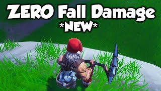 Take ZERO Fall Damage With This Fortnite Glitch... (Fortnite Season 8)