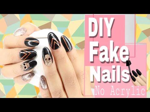 DIY Fake Nails at Home Glue On/ Press On Nails No Acrylic