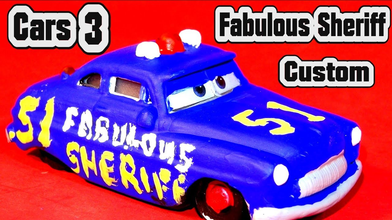 pixar cars 3 fabulous sheriff custom diecast with miss fritter