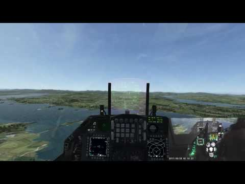 Falcon BMS OB training Several Touch and go's