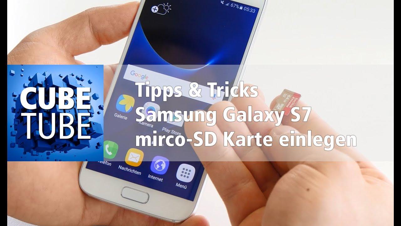Samsung Galaxy S7 Speicherkarte Einlegen Youtube