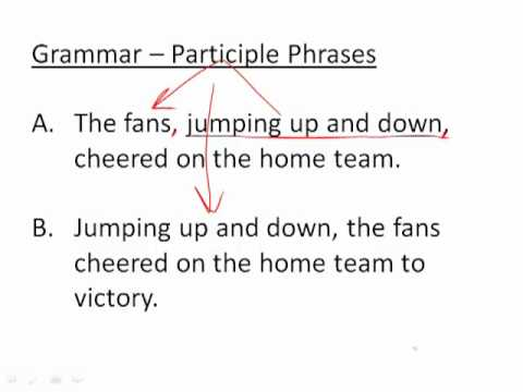 Grammar Clauses Participle Phrases Youtube