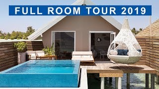 Maldives - LUX* South Ari Atoll Room Tour 2019 - Romantic Pool Water Villa
