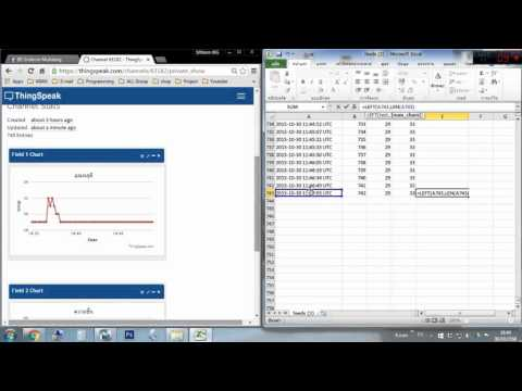 Thingspeak [1] : export data to excel and convert UTC to GMT+7
