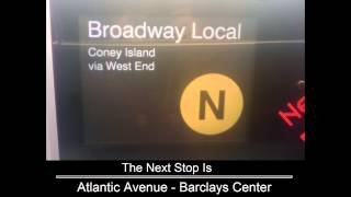 R160 [Updated] N train via R and D line announcements (Brooklyn - Coney Island Bound)