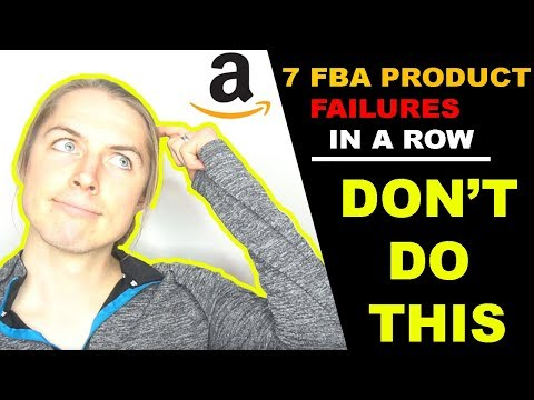 Amazon FBA PRODUCT RESEARCH | 7 Failed Products in a row! Lessons I Learned (8th did $6,000,000)