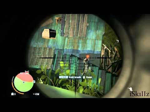Far Cry 3 | Stealthy outpost takedown | Z93 Sniper Rifle