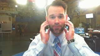 George shows you how much rain will fall today (and discusses his new beard!)