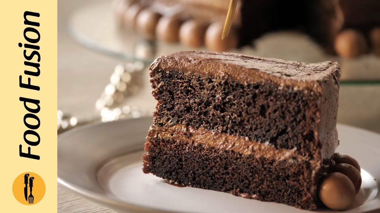 Chocolate Malt Cake Recipe by Food Fusion