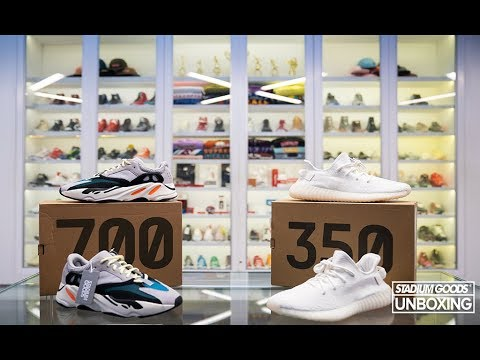 fd884385ece Unboxing the Yeezy 350 V2 Triple White + 700 Wave Runner. Stadium Goods