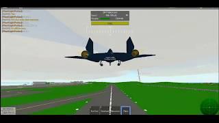Flying a BlackBird in Pilot Training Simulator (Roblox)