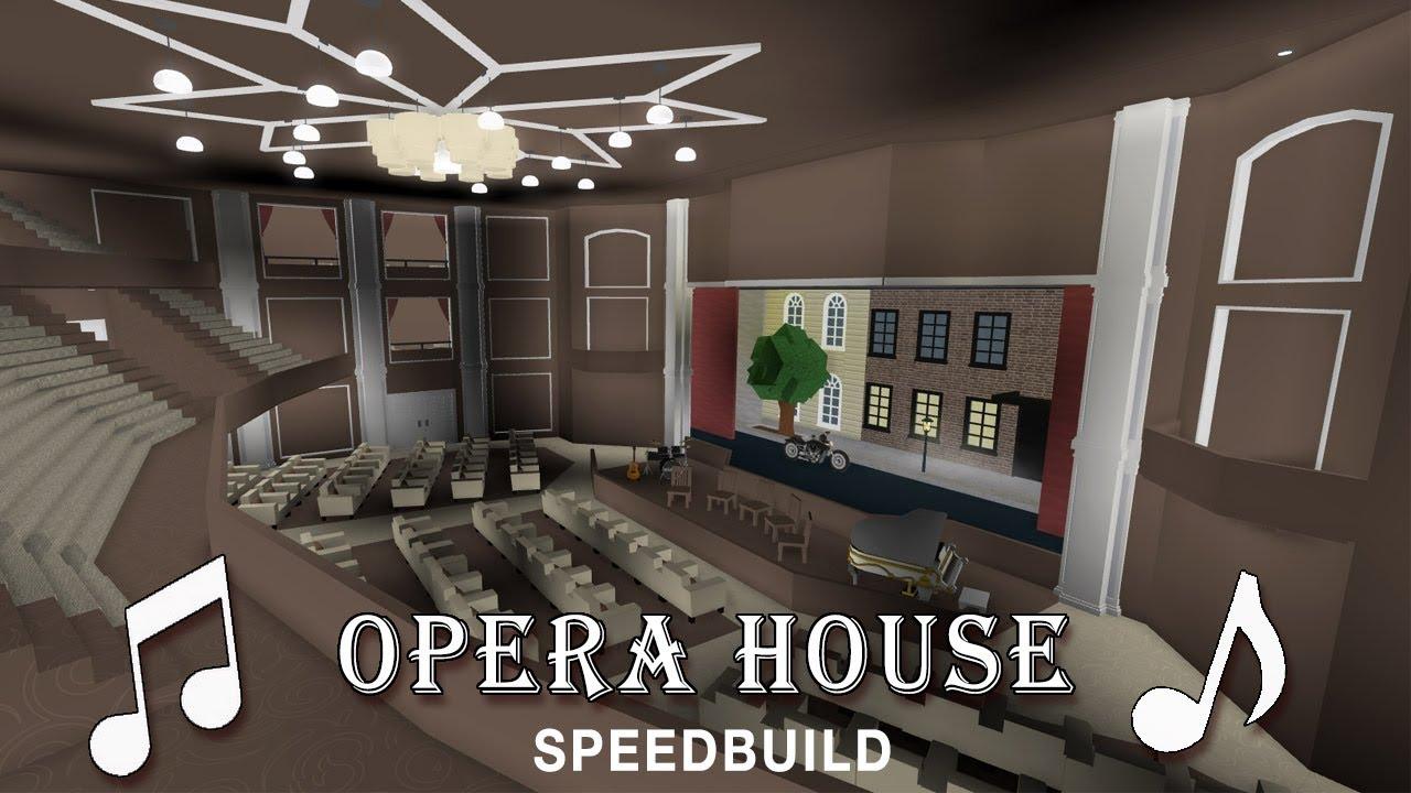 Roblox bloxburg opera house speedbuild youtube for Dining room ideas bloxburg