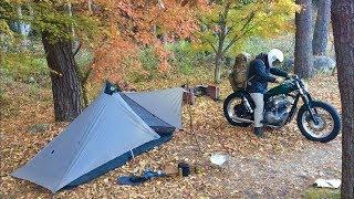 秋の自己装備で最軽量なバイクミニマムソロキャンプ (Part18) Motorcycle solo camping minimum equipment.