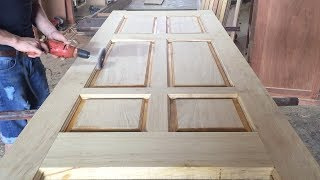 Amazing Woodworking Skill // The Latest Modern Wooden Door Design Project For Bedrooms