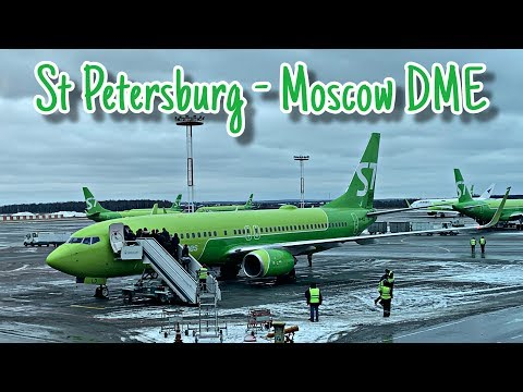 S7 Airlines St. Petersburg To Moscow DME   A319