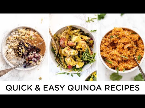 QUICK & HEALTHY QUINOA RECIPES ‣‣ beginner vegan recipes