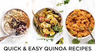 QUICK u0026 HEALTHY QUINOA RECIPES ‣‣ beginner vegan recipes