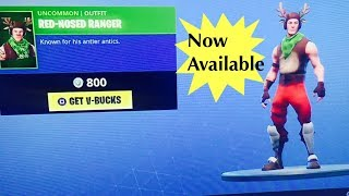 FORTNITE RED-NOSED RAIDER - RED-NOSED RANGER CHRISTMAS SKINS ARE BACK!