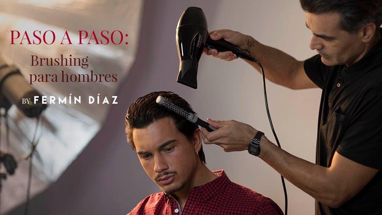 Brushing pelo corto hombre