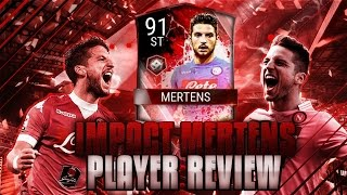 FIFA Mobile 90 OVR IMPACT MERTENS GAMEPLAY/ PLAYER REVIEW!! *BEST* STRIKER IN GAME!!