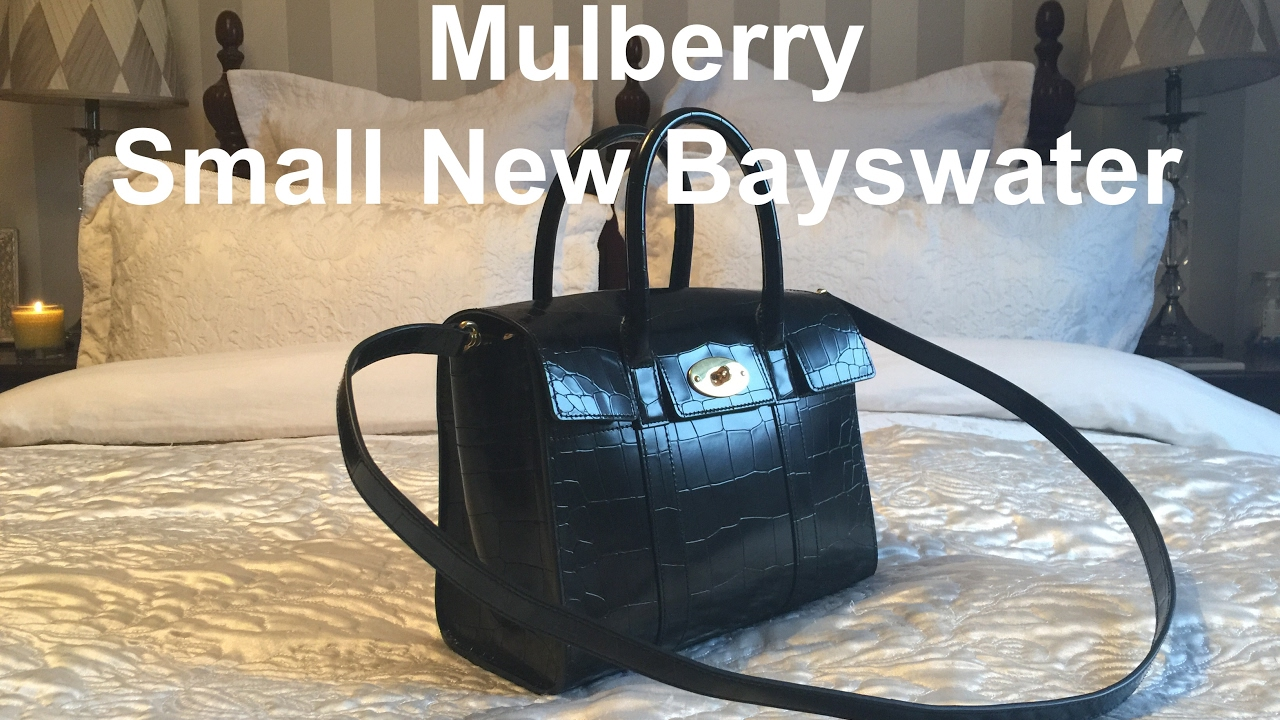 5a35596a491a Mulberry Small New Bayswater Handbag Reveal - YouTube