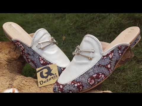 Ankara Half shoe making 2018 Africa