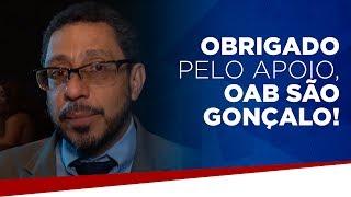 Obrigado pelo apoio, OAB São Gonçalo!