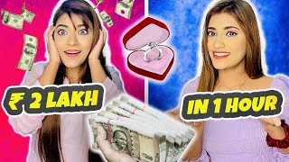 Giving My *SISTER* RS 2,00,000 to spend in 1 Hour challenge !! | Lut Gayi😭 | SAMREEN ALI