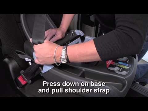 Car Seat Installation -- Primo Viaggio 4-35 Base Using Seat Belt