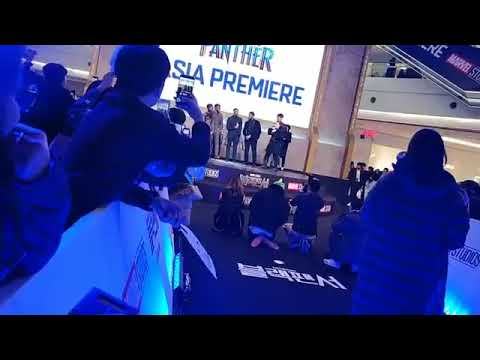At the Asia Premiere of Black Panther in Seoul, South Korea